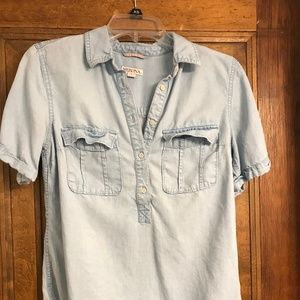 Denim Quarter Button Up